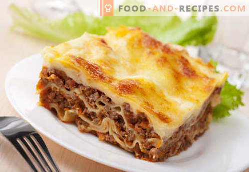 Lasagna at home - the right recipes. How to quickly and tasty cook lasagna at home.