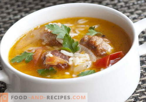Soups with rice - the best recipes. How to properly and tasty cook soup with rice.
