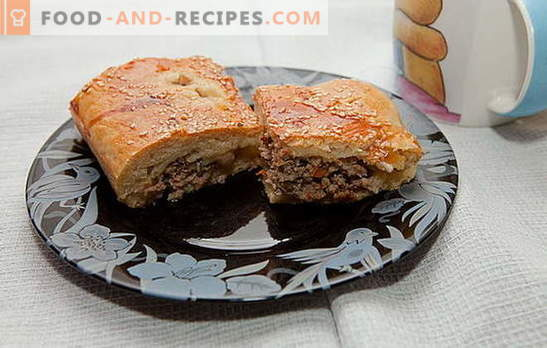 Can we make a minced meat pie? Where is the recipe? Cooking meat pie with minced meat is an interesting process