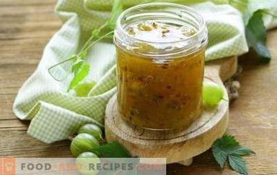Emerald gooseberry jam - an amazing preparation! Different formulations of emerald gooseberry jam