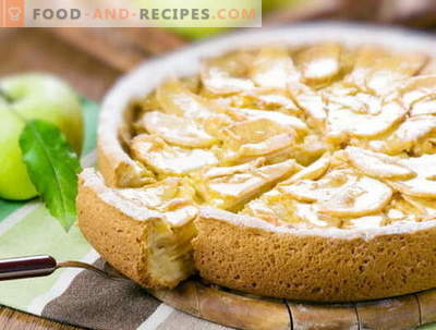 Charlotte. Charlotte recipes with photos: apple, lemon, French, rice ...