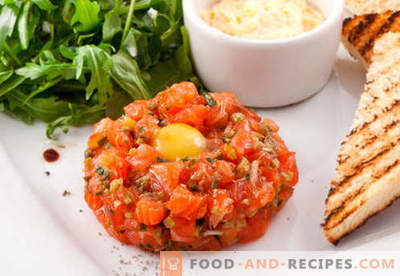Salmon tartare - the best recipes. How to properly and tasty cook salmon tartare.