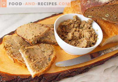 Goose pate - the best recipes. How to properly and tasty cook goose pate.