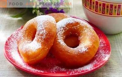 Yeast donuts can be proud, and it is better to be treated! Cooking with and without filling - donuts with yeast