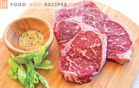 Marbled beef steak - meat delicacy! Recipes and all ways of cooking steaks of marbled beef in the oven, on the stove and grill