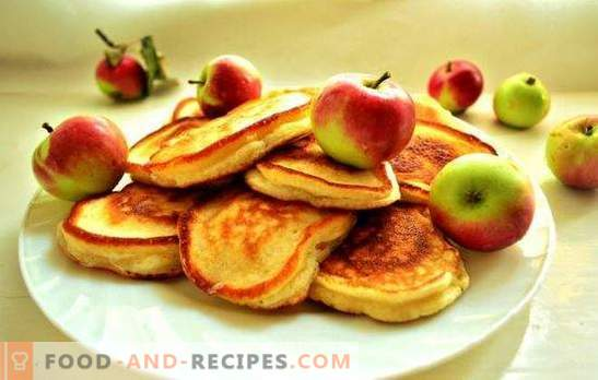 Fritters without eggs in milk - a traditional breakfast in a new way. The best recipes fritters without eggs: classic, custard, lush