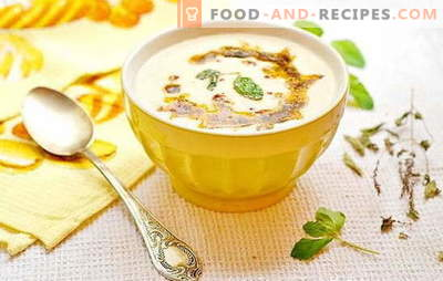 Unusual Turkish soup: on yoghurt, milk, meat broth. Recipes Turkish gourmet soup with meat, cereals, vegetables
