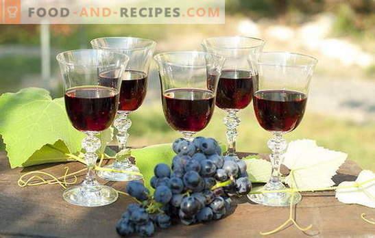 Homemade grape filling - naturally! Recipes grape liqueur at home: with vodka, sugar or alcohol