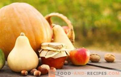 Pumpkin jam with apples is an unusual combination of flavors. Classic and exotic options for cooking pumpkin jam with apples