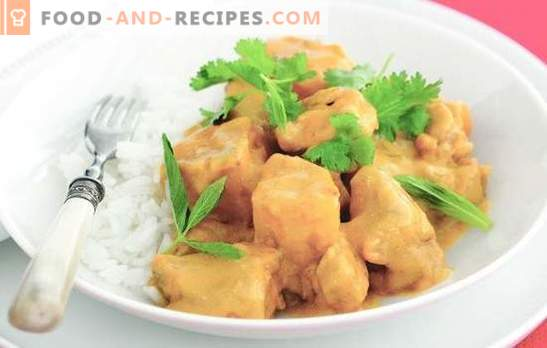 Stewed breast - the most tender meat. A selection of the best stew breast recipes: in cream, sour cream, with cheese, tobasco sauce, mushrooms and vegetables