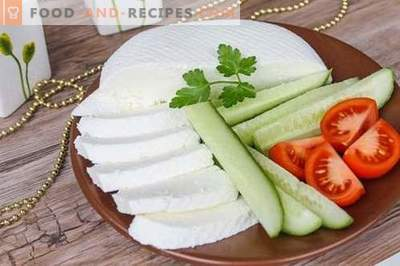Cheese or feta cheese at home. How to make homemade cheese is tasty and inexpensive.