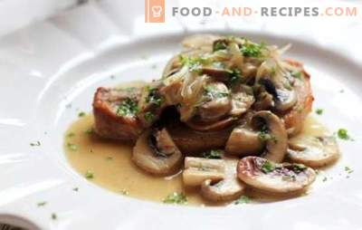 Pork chops with mushrooms - meat splendor, unearthly flavor! The best recipes of delicious pork chops with mushrooms