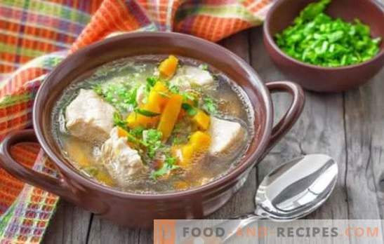 Pork soup with potatoes - simple and fragrant recipes. How to cook rich soup for pork soup with potatoes