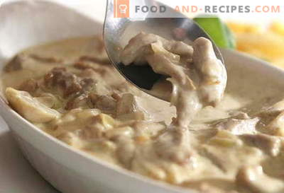Mushrooms with sour cream - the best recipes. How to properly and tasty cook mushrooms with sour cream.
