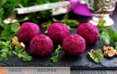 Georgian beetroot is a national spicy snack. Georgian cabbage recipes with beets and phali from beets in Georgian