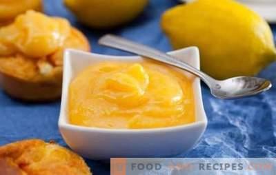 Lemon Kurd - amazing citrus cream. Ideal recipes flavored lemon Kurd for breakfast, baking, desserts