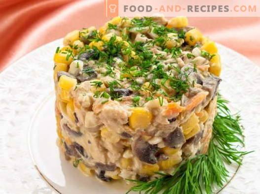 Salad with corn and chicken - the best recipes. How to properly and tasty cooked salad with corn and chicken.