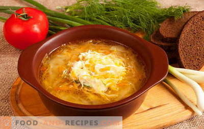 Peculiarities of Russian sauerkraut soup: recipes. How many housewives - so many options cabbage sauerkraut
