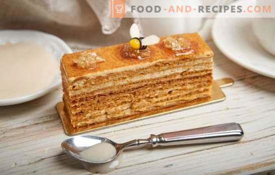 Honey cake: step-by-step recipe with a photo of your favorite cake. Cooking at home by step-by-step recipes with a photo of a gentle classic or nutty honey cake