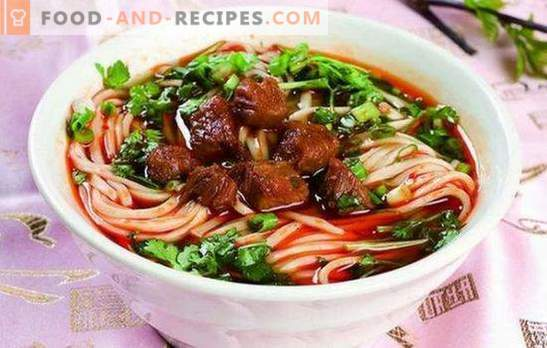 Laghman at home - nutritionally, tasty, easy! Recipes and intricacies of home-made lagman cooking with beef, lamb, pork