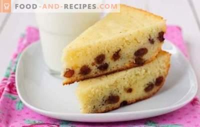 Mannik with raisins - baking instead of porridge! The best recipes for classic and unusual manniki with raisins on kefir, milk, sour cream
