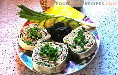 Lavash roll with melted cheese: a budget snack. Step-by-step photo recipe of pita bread roll with melted cheese: simple and tasty!