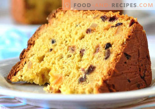 Easter cake - only proven recipes. We bake a tasty Easter cake in a bread maker, a slow cooker or oven