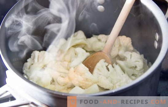 How much to cook cauliflower: fresh and frozen. Different methods and recipes: how to cook cauliflower for different dishes