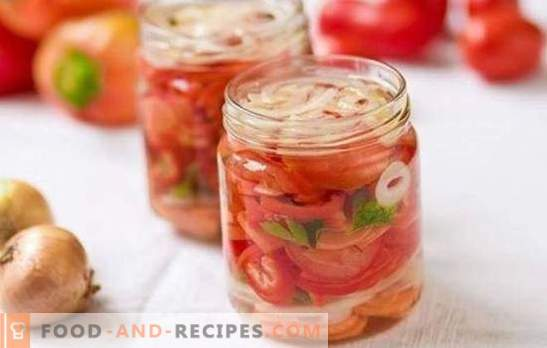 Sweet tomato salad for the winter: the best recipes for the original snack. Secrets of a tasty sweet tomato salad for the winter