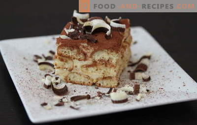 Tiramisu zu Hause - alles ist möglich! Rezepte für hausgemachtes Tiramisu: mit Mascarpone, Sahne, Hüttenkäse, Schokolade, Bananen