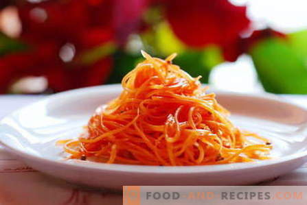 Carrot salads are the best recipes. How to properly and tasty to prepare a salad of carrots.