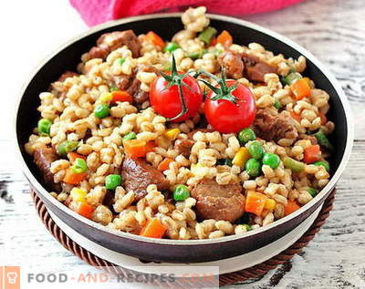 Barley with meat - the best recipes. How to properly and tasty cook barley meat.