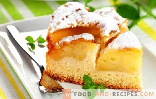 Charlotte on milk with apples - tender! Recipes charlotte on milk with apples and creamy taste