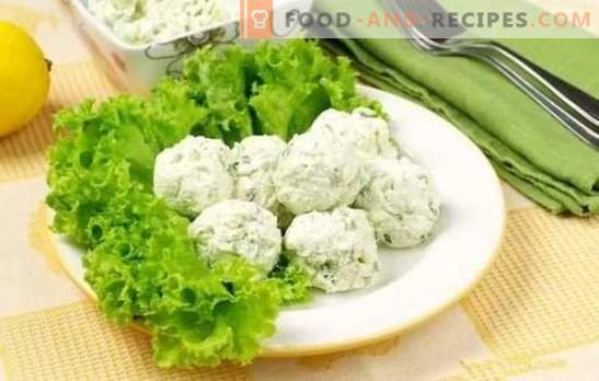 Curd snack - delicious and healthy! Recipes for various cottage cheese snacks with vegetables, cheese, crab sticks, avocado and chocolate
