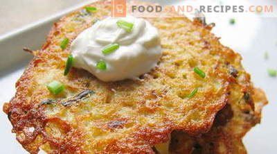 Potato pancakes - the best recipes. How to properly and tasty cook potato pancakes.