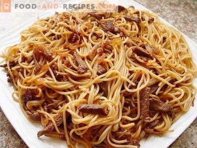 Pasta with meat - the best recipes. How to properly and tasty cook pasta with meat.