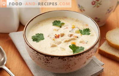 Pollock soup - a dish with excellent taste! Cooking the right pollack fish soup with vegetables, eggs, cereals, cheese, milk