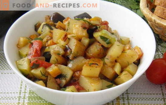 Vegetable stew with zucchini and potatoes is the favorite of the summer menu. Recipe for vegetable stew with zucchini and potatoes: minimum effort
