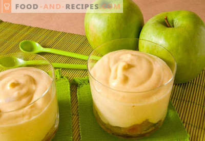 Apple mousse - the best recipes. How to properly and tasty to cook apple mousse.