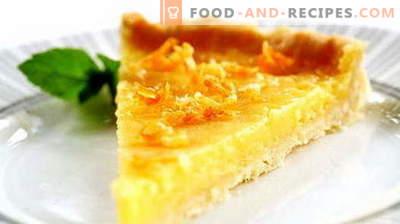 Zitronentorte - die besten Rezepte. Wie man richtig und lecker Zitronenkuchen kocht.