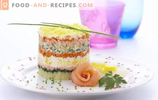 Fish salad with rice - both on weekdays and on holidays! Fish salads with rice from canned, fresh, smoked, salted fish