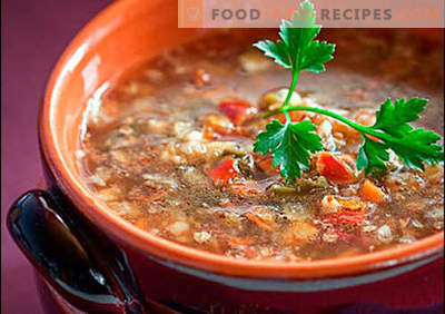 Soup with buckwheat - proven recipes. How to properly and cook soup with buckwheat.