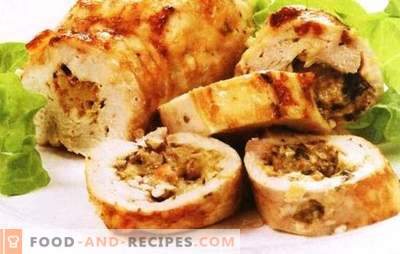 Chicken rolls with mushrooms and cheese - you should try. Want to surprise - cook chicken rolls with mushrooms and cheese