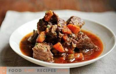 Beef stew in a slow cooker - easy! Recipes for beef stew in a slow cooker with sour cream, vegetables, mushrooms