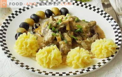 Beef stroganoff from the liver is the most tender by-product in the sauce. Recipes beef stroganoff from the liver: beef, calf, pork