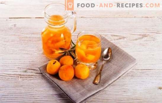 Compote of apricots for the winter without sterilization - natural! Recipes compote apricots for the winter without sterilization with acid, mint, cherry, etc.