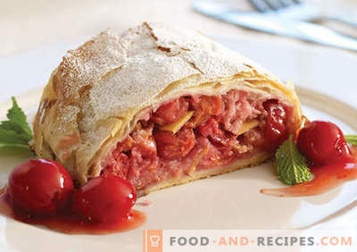 Cherry strudel - the best recipes. How to properly and tasty cook strudel with cherries.