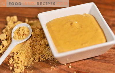 Special recipes for making mustard powder in the home. Mustard from home powder: the secret of spicy seasoning