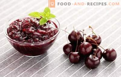 Cherry jam is a tender preparation for the winter. Cherry jam recipes: with lemon, currant, strawberry, rose petals