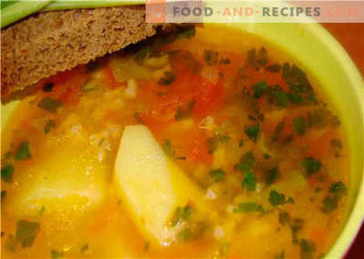 Soups without meat - the best recipes. How to properly and tasty soup without meat.